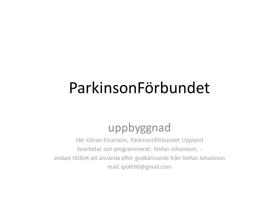 ParkinsonFörbundet uppbyggnad