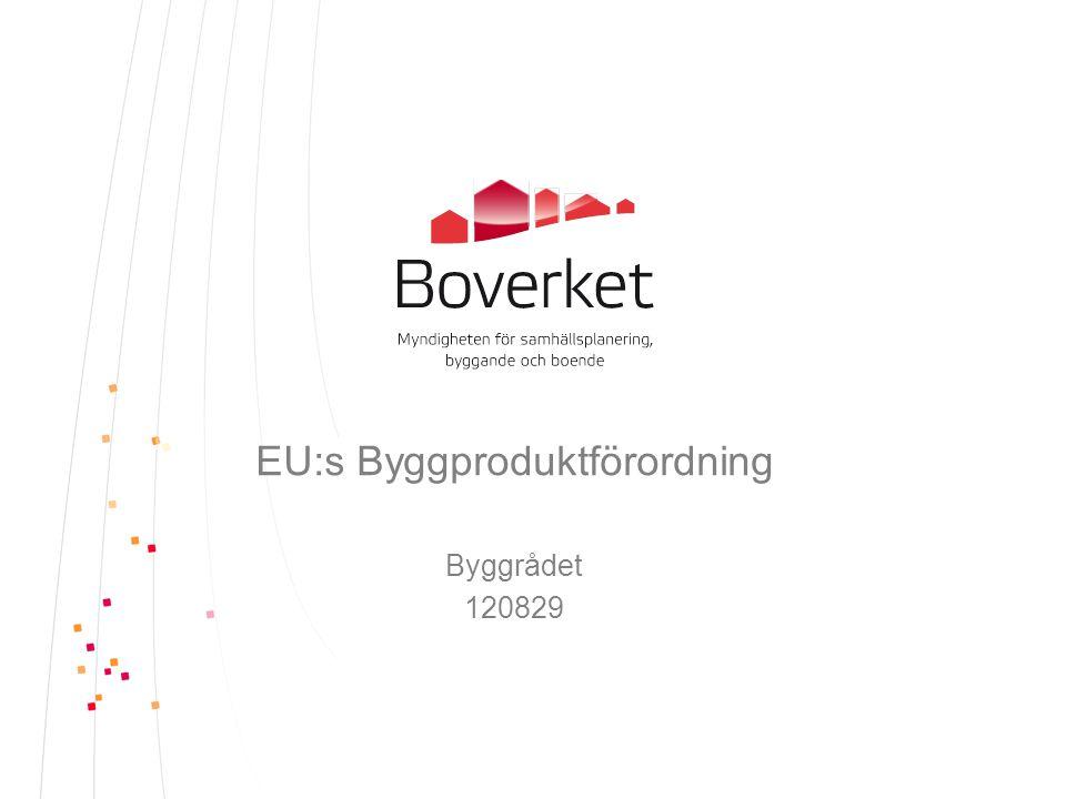 EU:s Byggproduktförordning