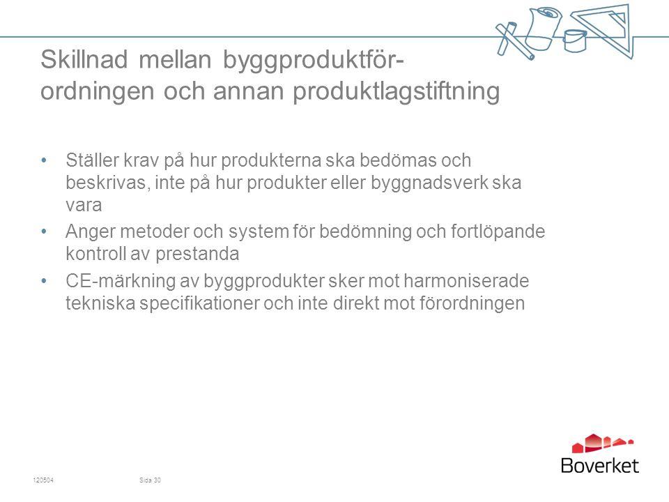Skillnad mellan byggproduktför- ordningen och annan produktlagstiftning
