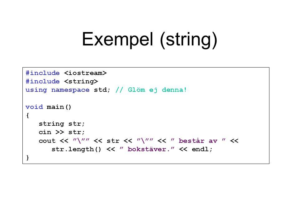 Exempel (string)