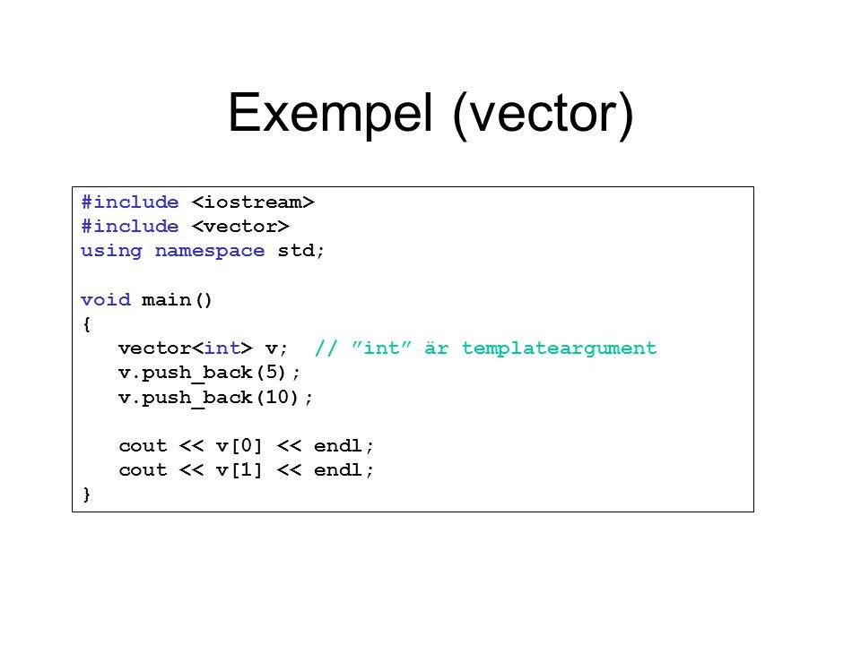 Exempel (vector)