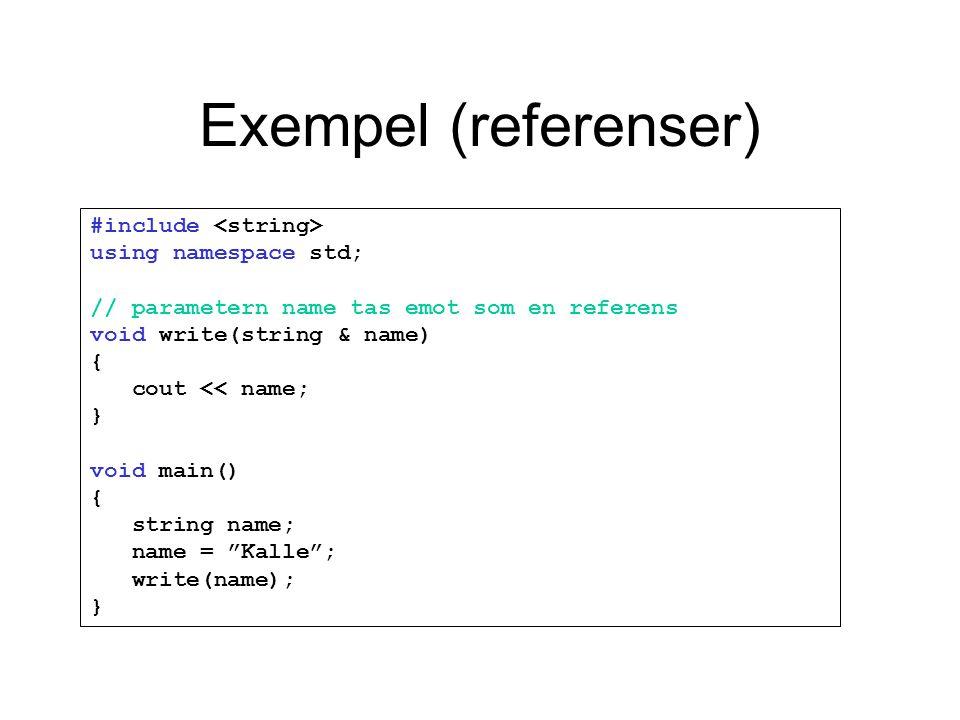 Exempel (referenser)