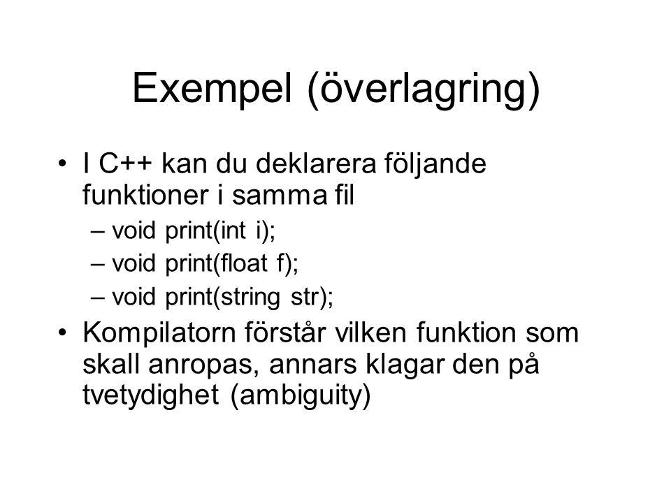 Exempel (överlagring)