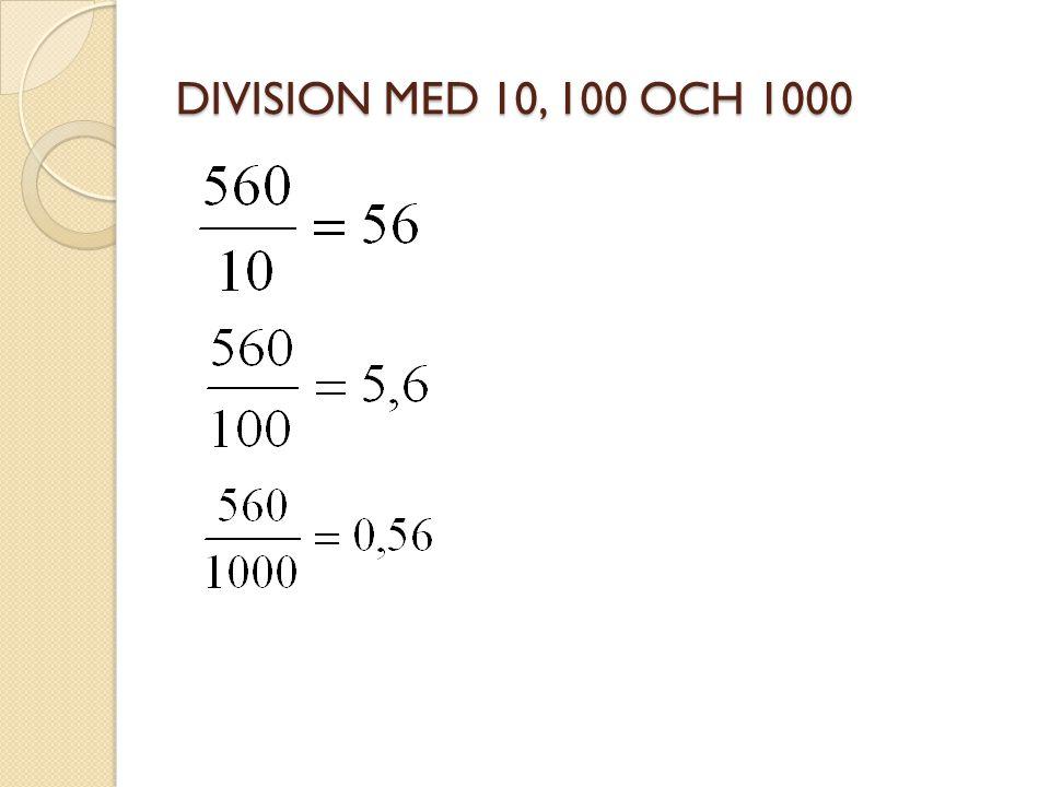 DIVISION MED 10, 100 OCH 1000