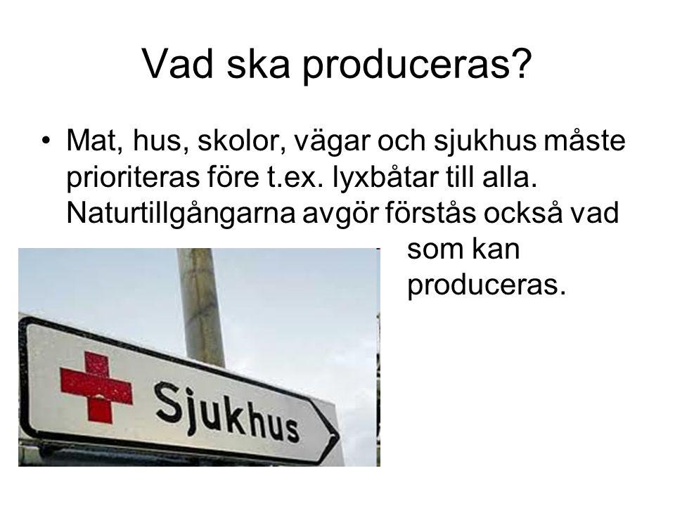Vad ska produceras