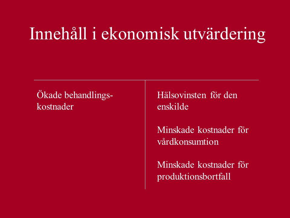 Innehåll i ekonomisk utvärdering