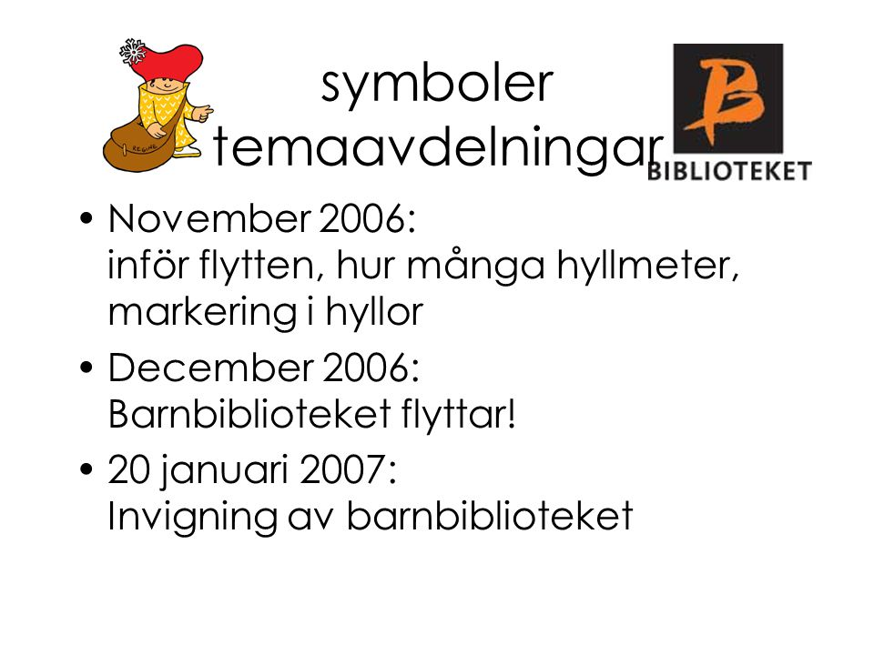 symboler temaavdelningar