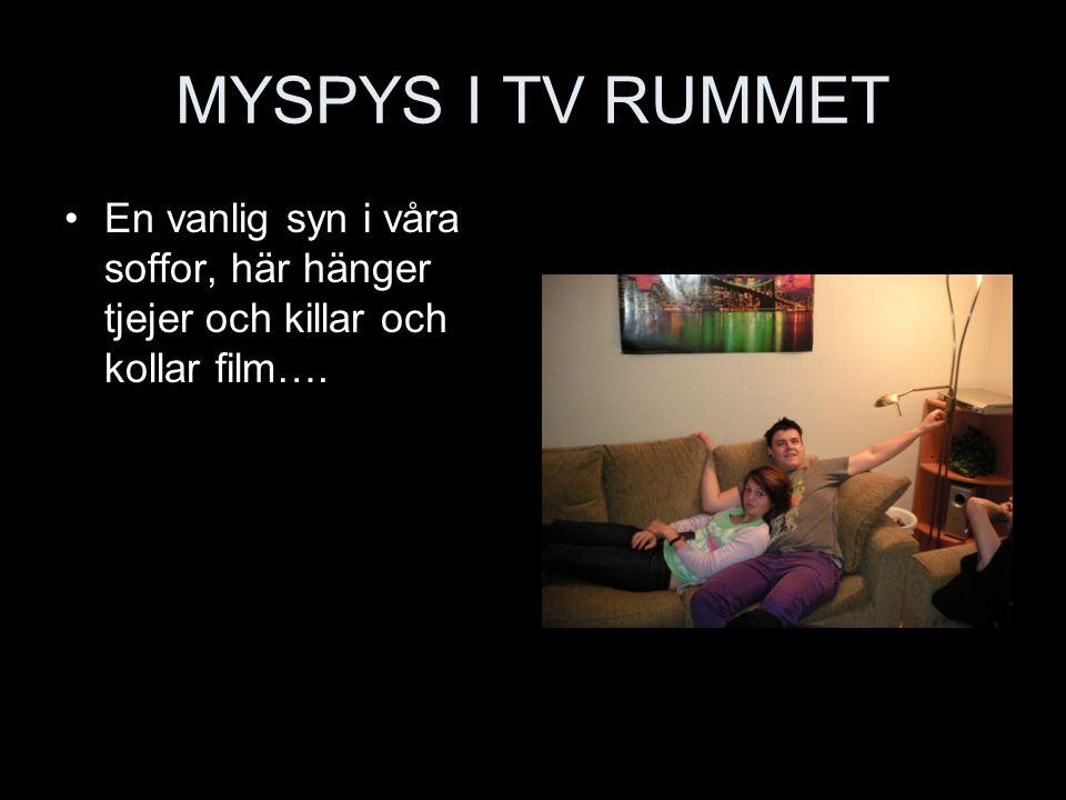 MYSPYS I TV RUMMET En vanlig syn i våra soffor, här hänger tjejer och killar och kollar film….