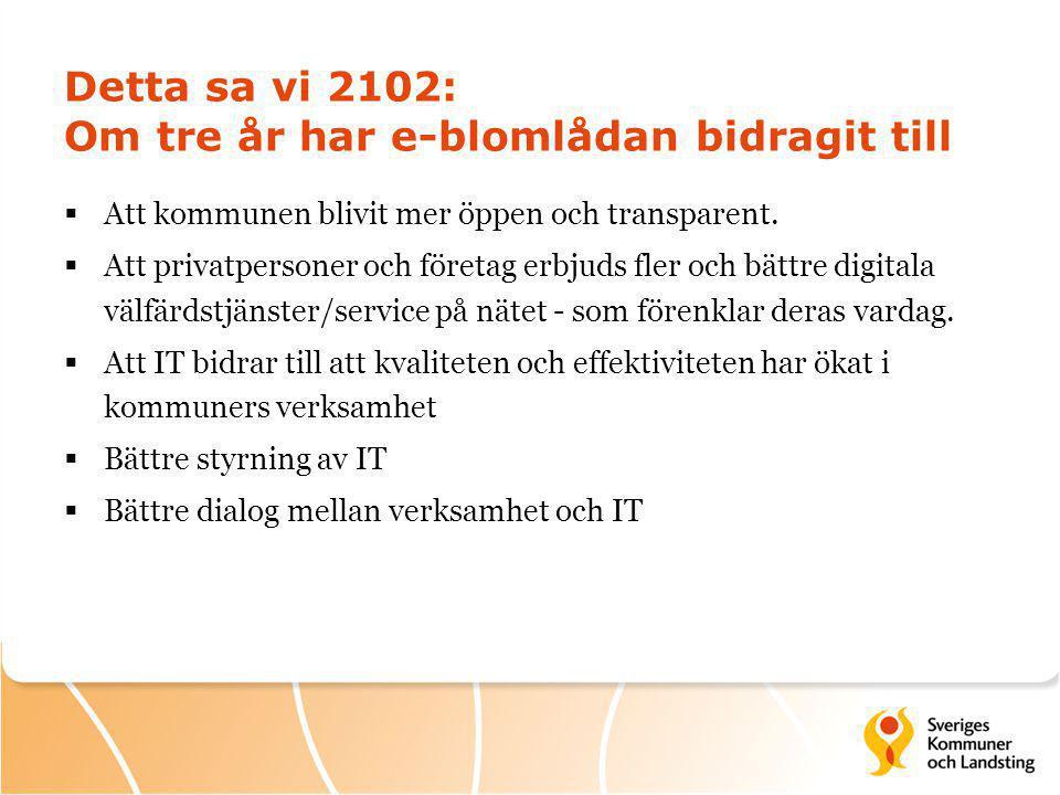 Detta sa vi 2102: Om tre år har e-blomlådan bidragit till