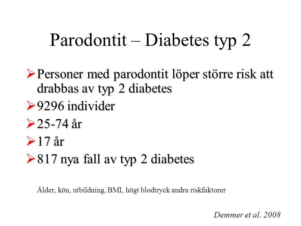 Parodontit – Diabetes typ 2