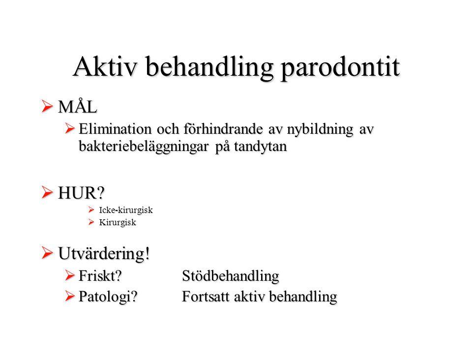 Aktiv behandling parodontit