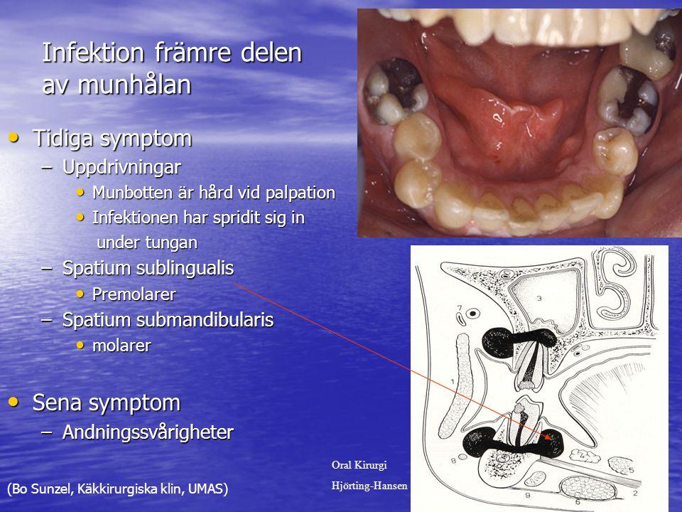 Infektion främre delen av munhålan