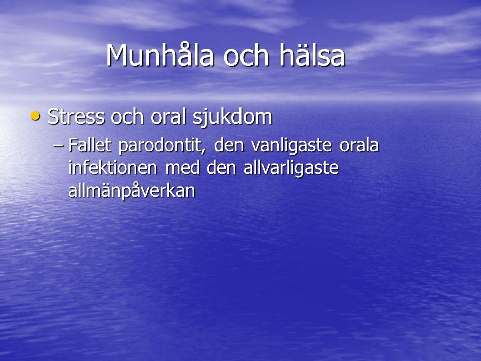 Munhåla och hälsa Stress och oral sjukdom