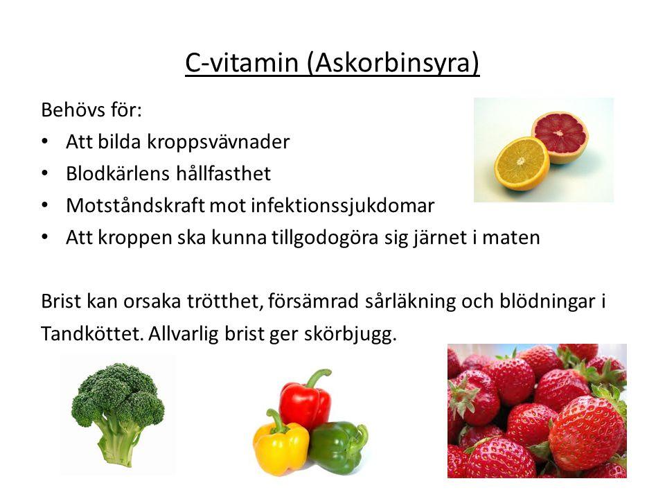 C-vitamin (Askorbinsyra)