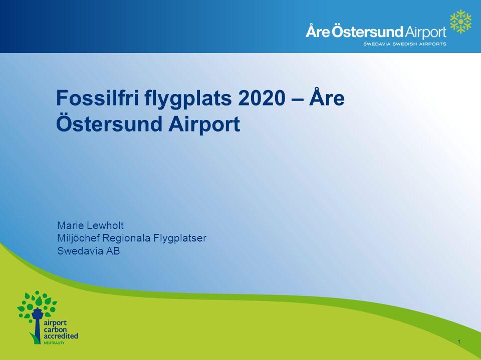 Fossilfri flygplats 2020 – Åre Östersund Airport