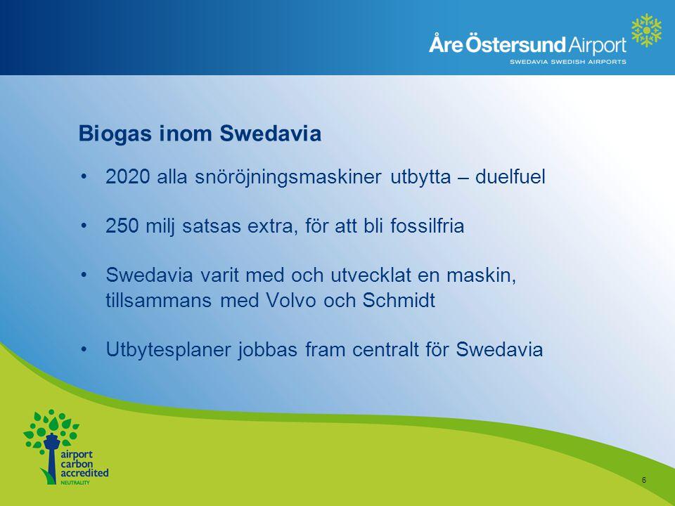 Biogas inom Swedavia 2020 alla snöröjningsmaskiner utbytta – duelfuel