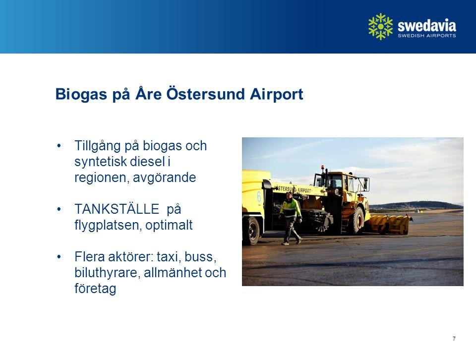 Biogas på Åre Östersund Airport