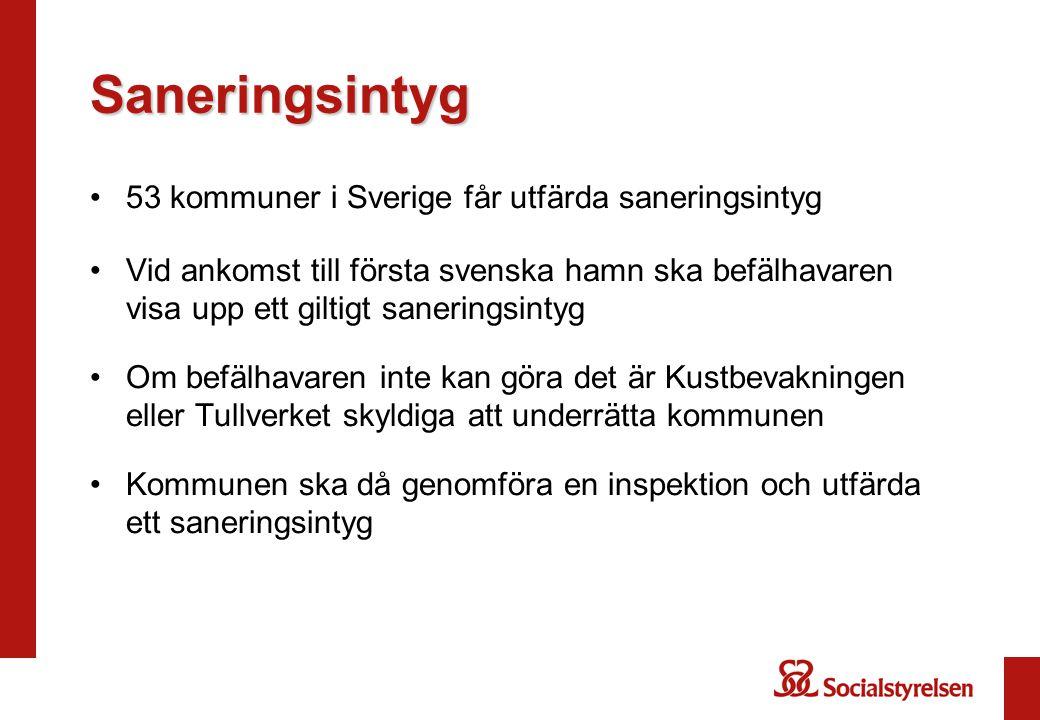 Saneringsintyg 53 kommuner i Sverige får utfärda saneringsintyg