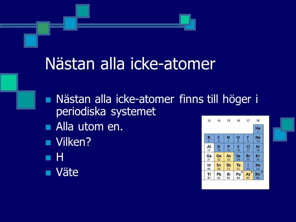 Nästan alla icke-atomer