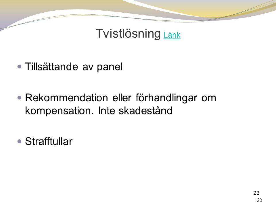 Tvistlösning Länk Tillsättande av panel