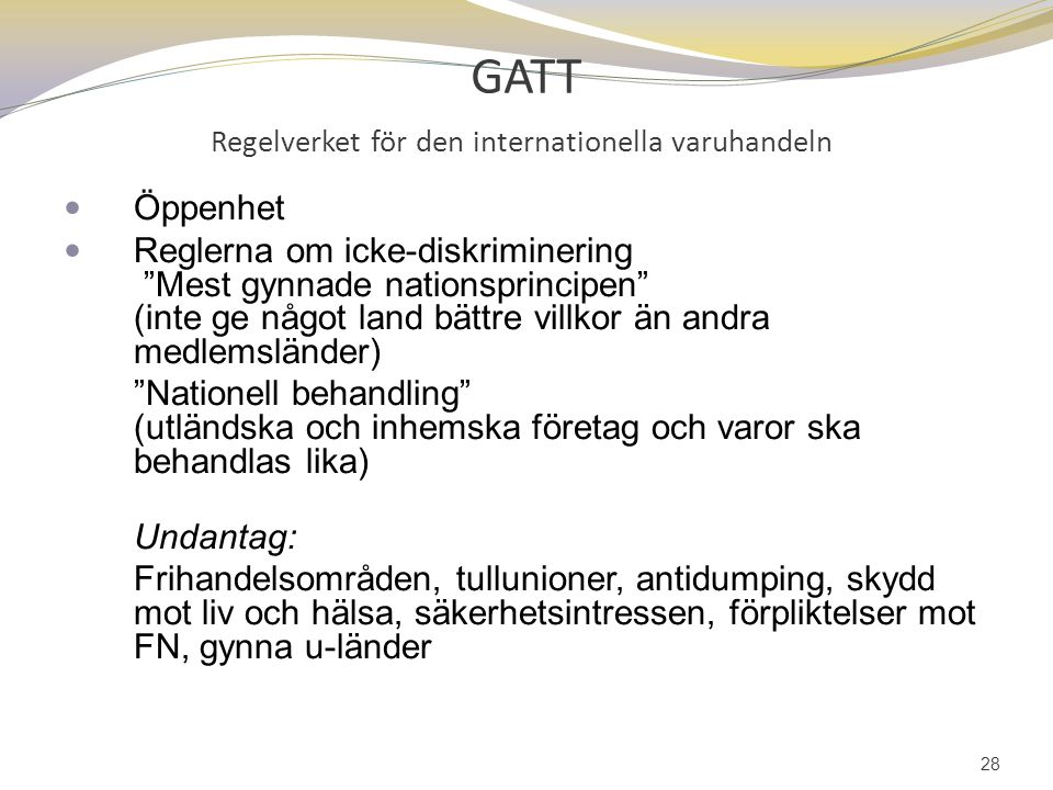 GATT Regelverket för den internationella varuhandeln