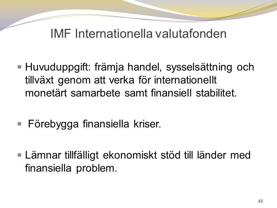 IMF Internationella valutafonden