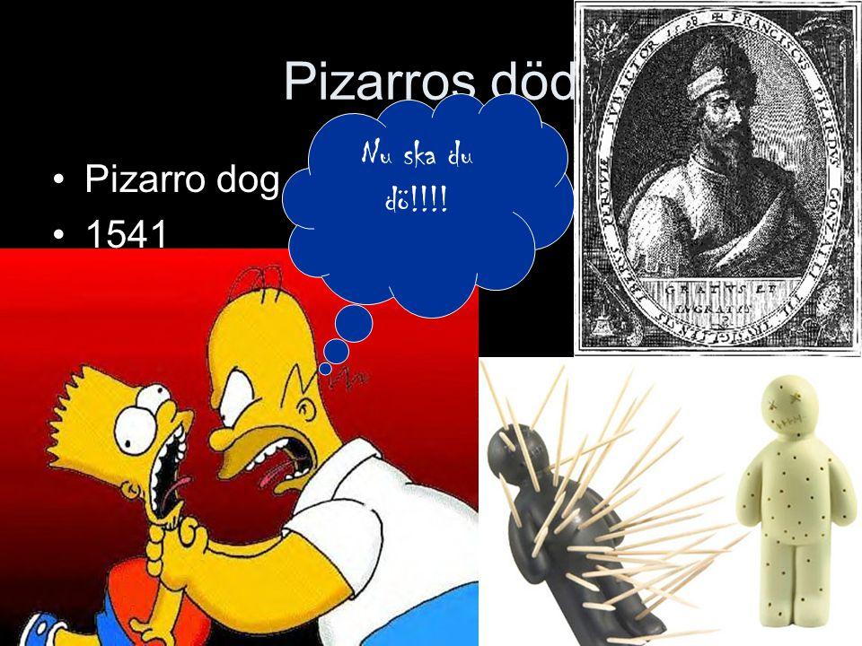 Pizarros död Nu ska du dö!!!! Pizarro dog 1541