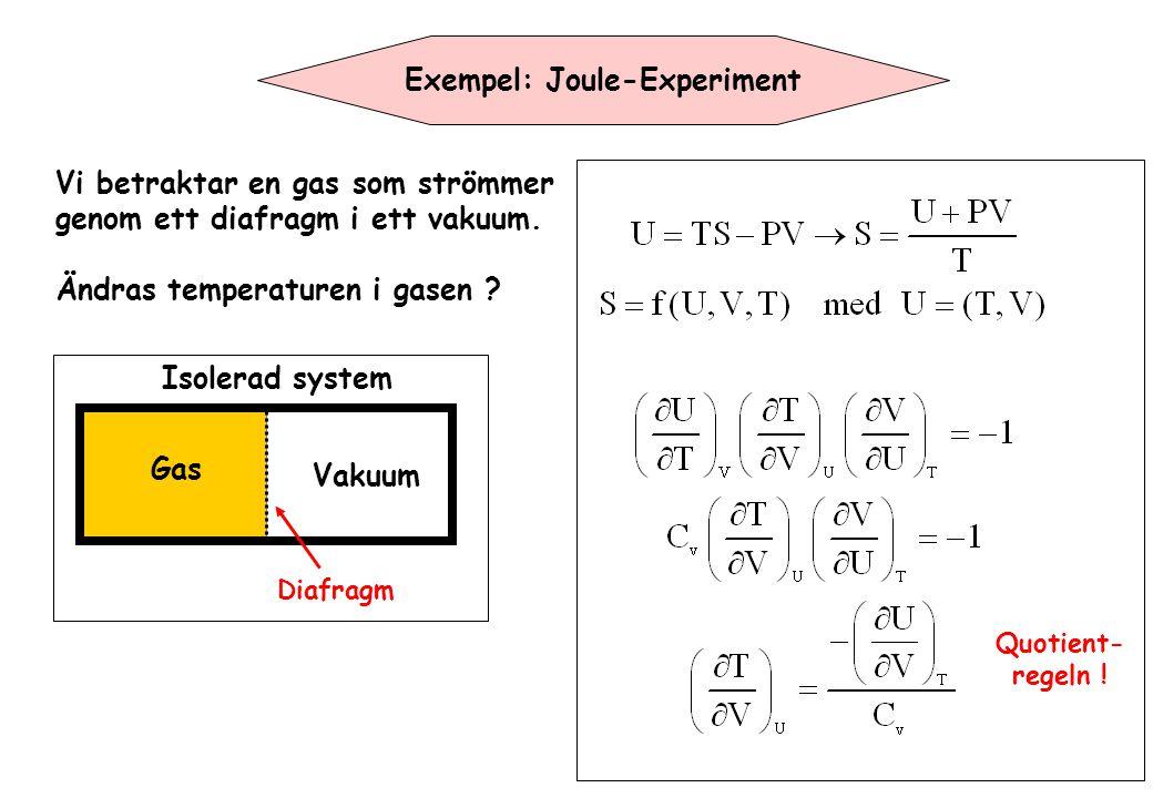 Exempel: Joule-Experiment