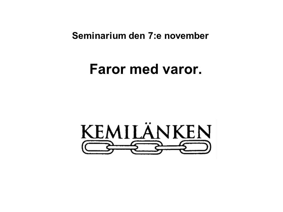 Seminarium den 7:e november
