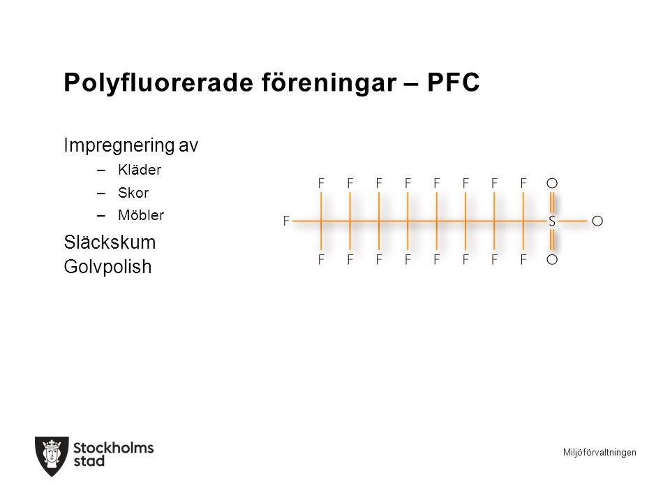 Polyfluorerade föreningar – PFC