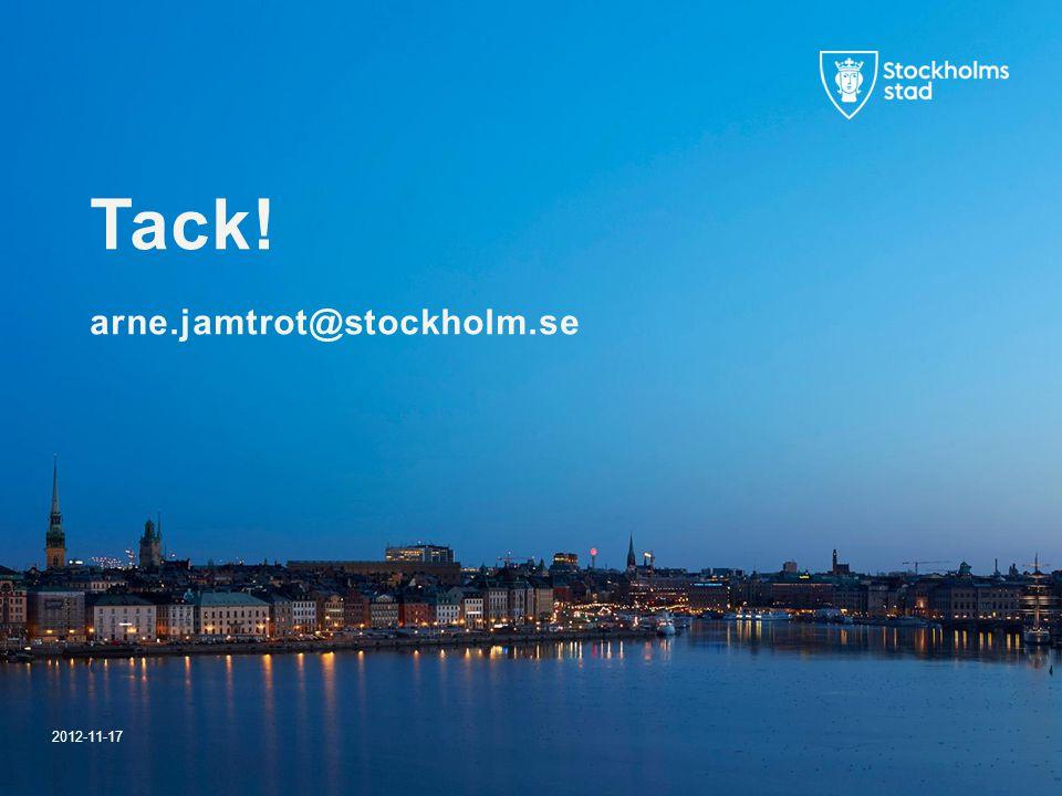 Tack! arne.jamtrot@stockholm.se