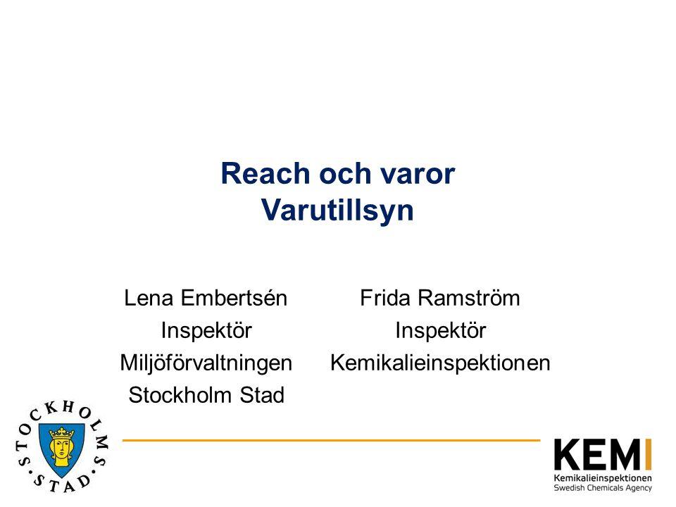 Reach och varor Varutillsyn