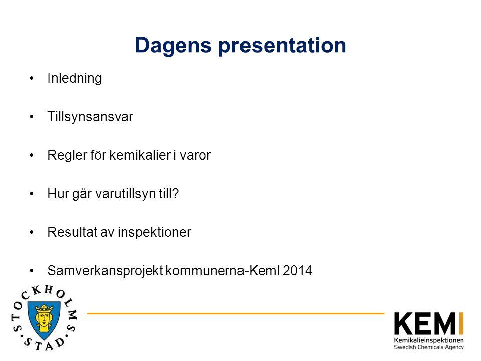 Dagens presentation Inledning Tillsynsansvar