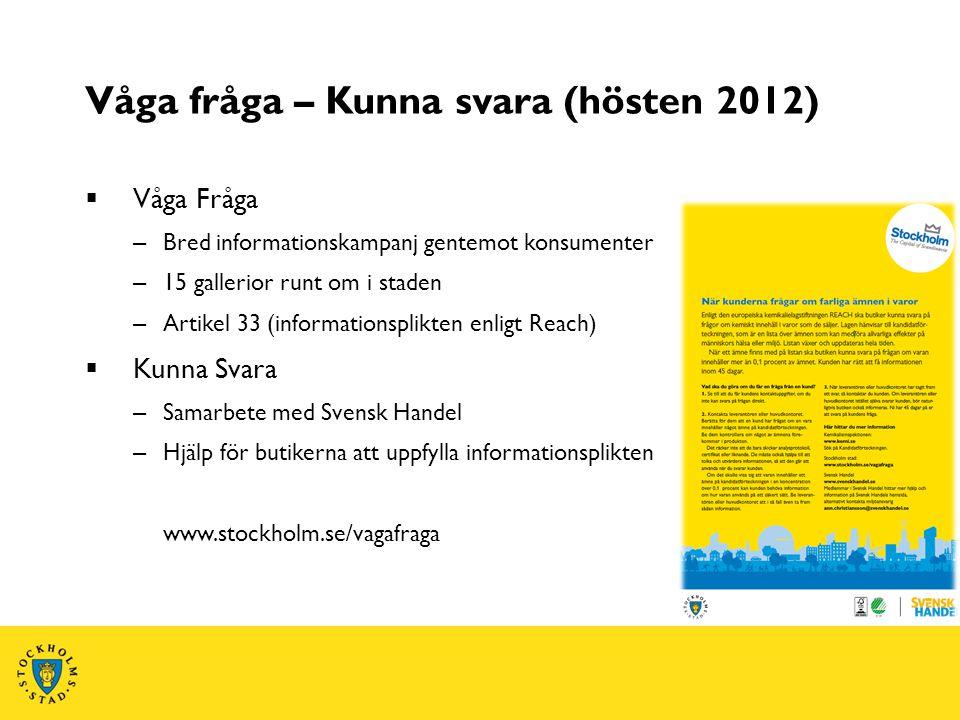 Våga fråga – Kunna svara (hösten 2012)