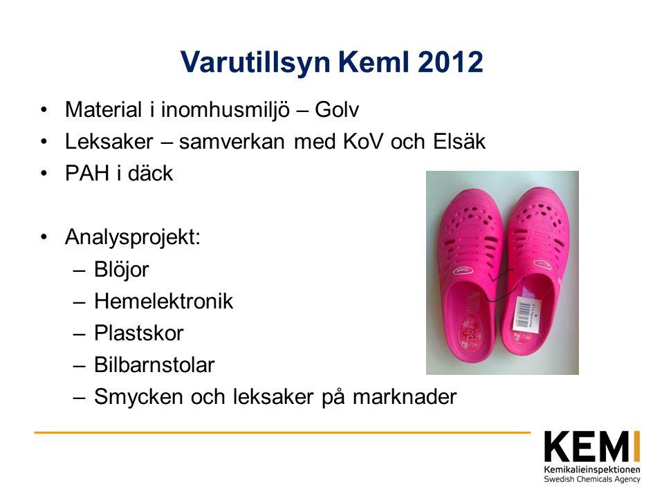 Varutillsyn KemI 2012 Material i inomhusmiljö – Golv