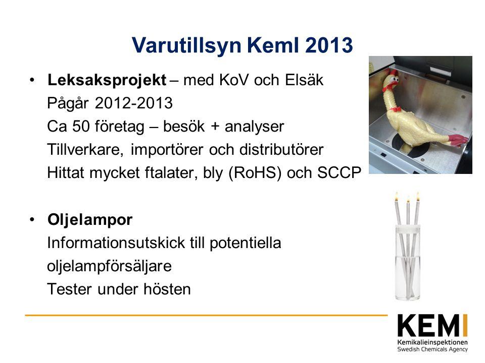 Varutillsyn KemI 2013 Leksaksprojekt – med KoV och Elsäk