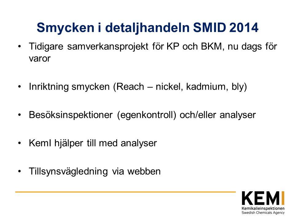 Smycken i detaljhandeln SMID 2014