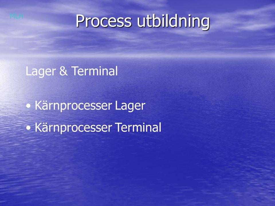 Process utbildning Lager & Terminal Kärnprocesser Lager