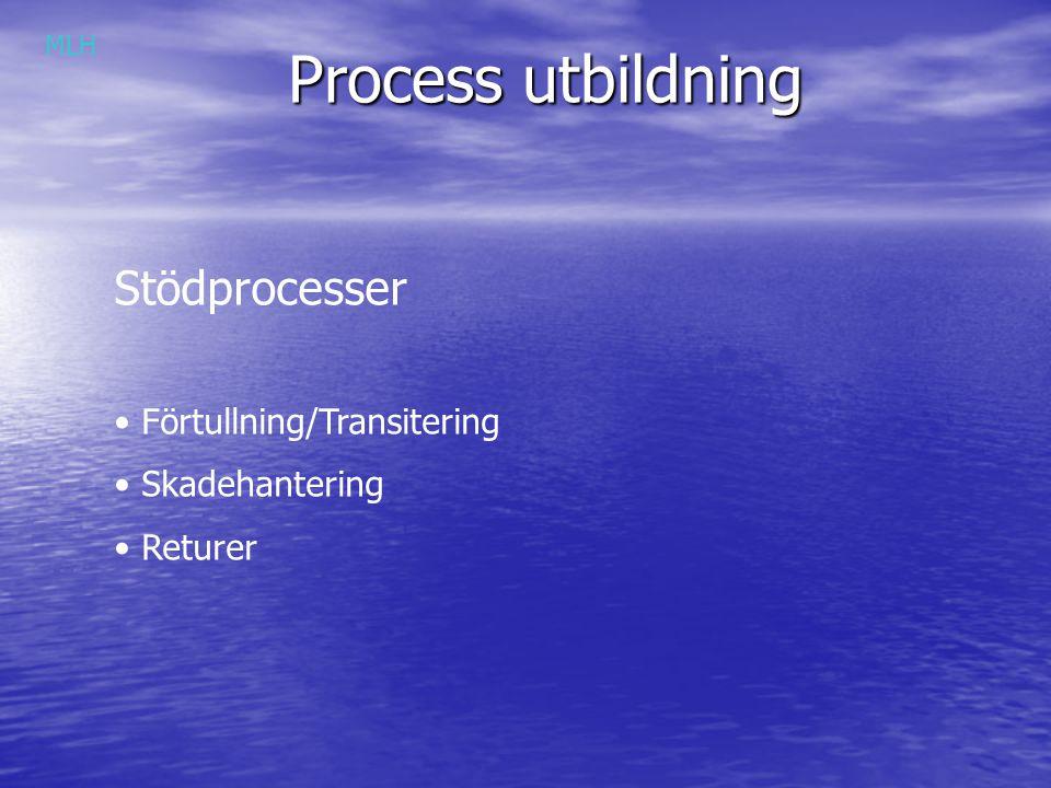 Process utbildning Stödprocesser Förtullning/Transitering