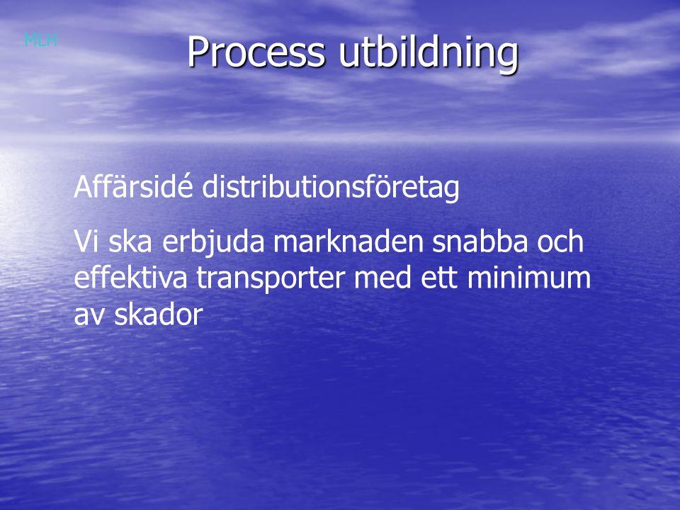 Process utbildning Affärsidé distributionsföretag