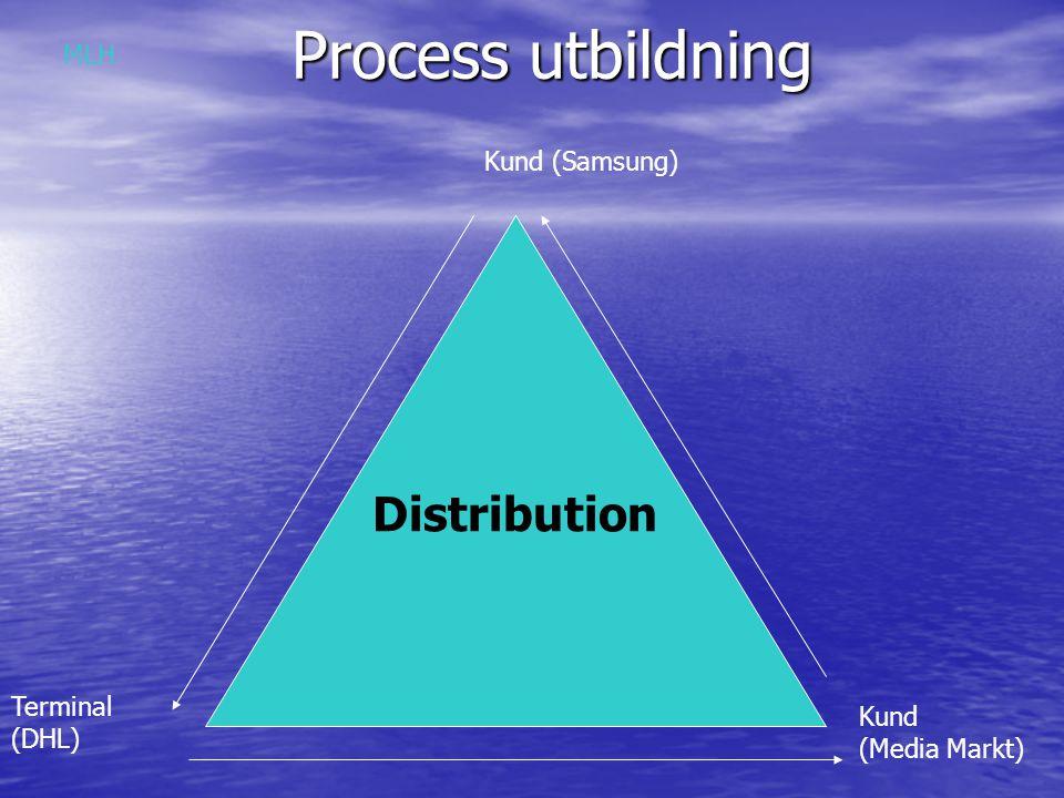 Process utbildning Distribution MLH Kund (Samsung) Terminal Kund (DHL)
