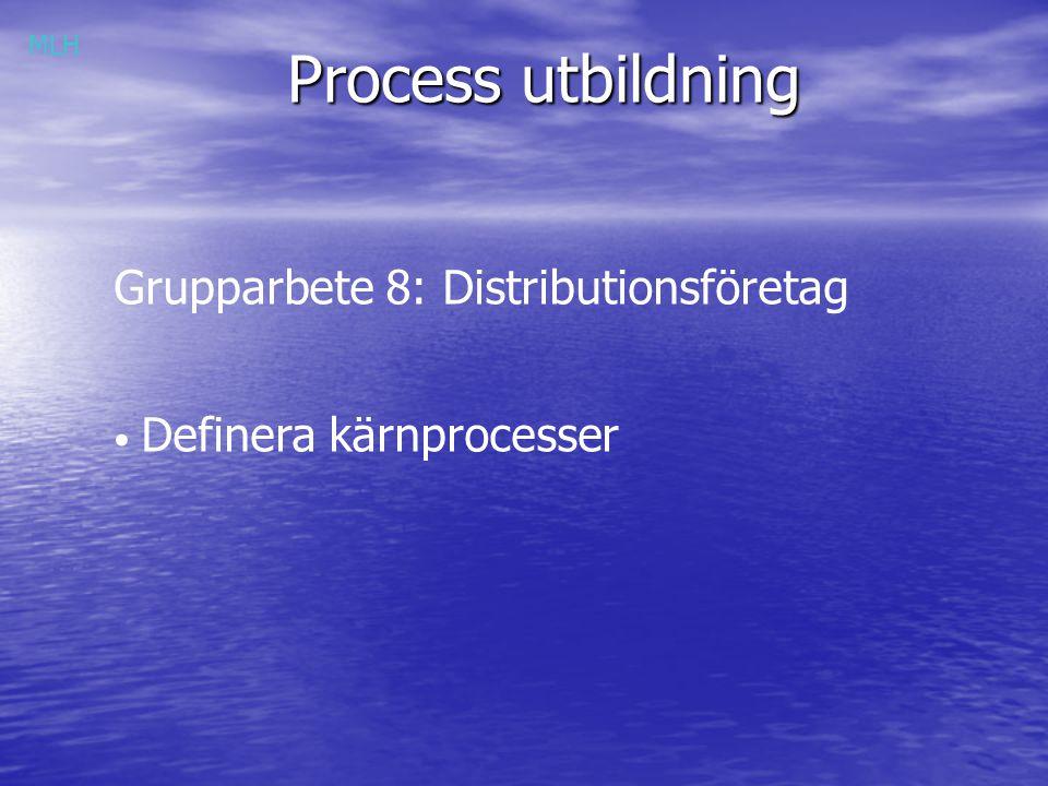 Process utbildning Grupparbete 8: Distributionsföretag