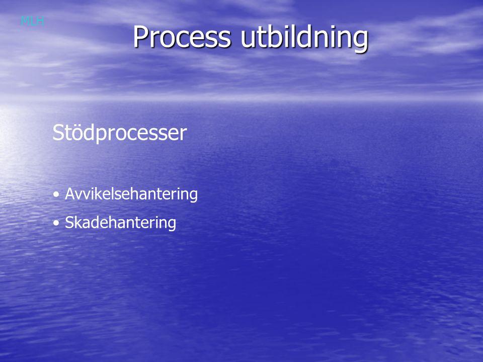 Process utbildning MLH Stödprocesser Avvikelsehantering Skadehantering