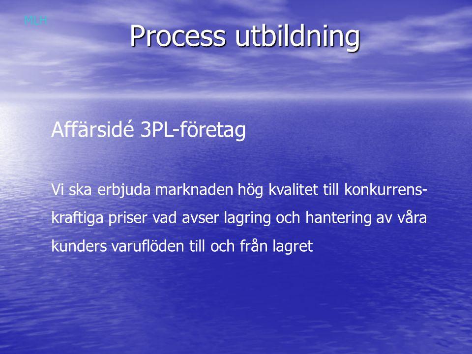 Process utbildning Affärsidé 3PL-företag
