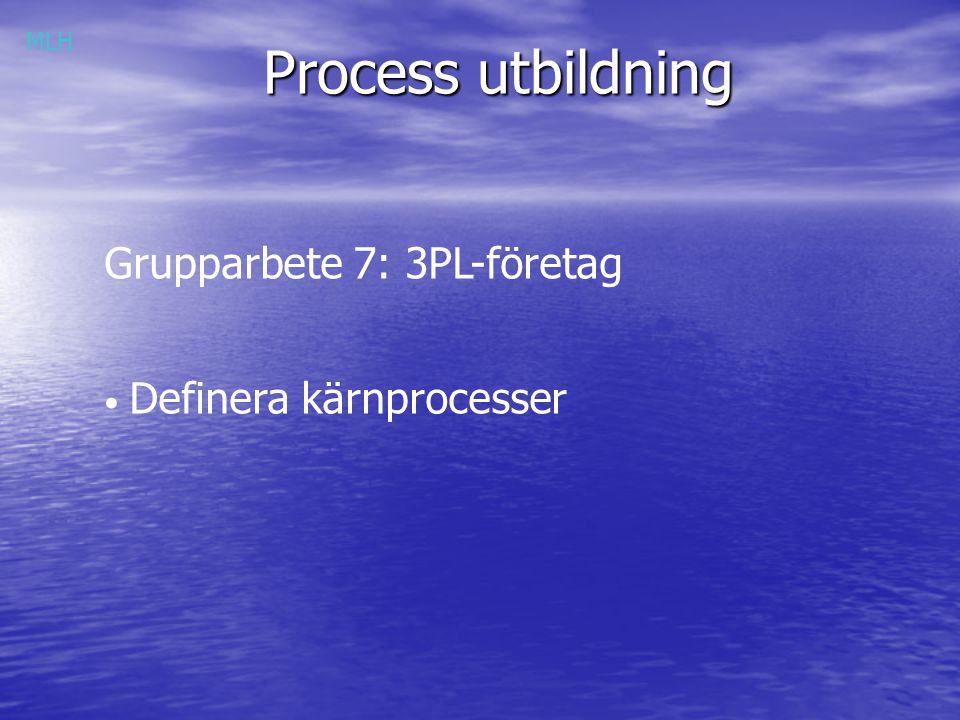 Process utbildning Grupparbete 7: 3PL-företag Definera kärnprocesser