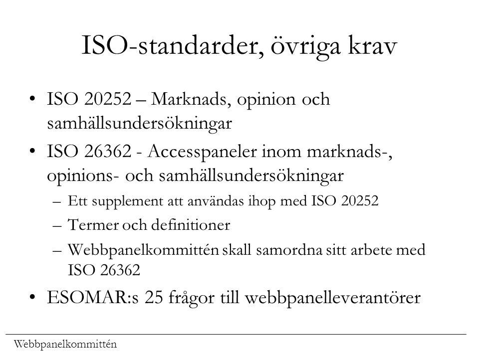 ISO-standarder, övriga krav