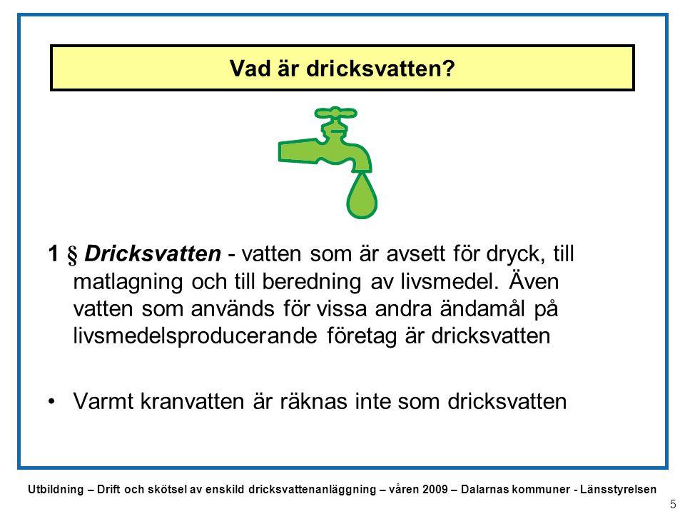 Varmt kranvatten är räknas inte som dricksvatten