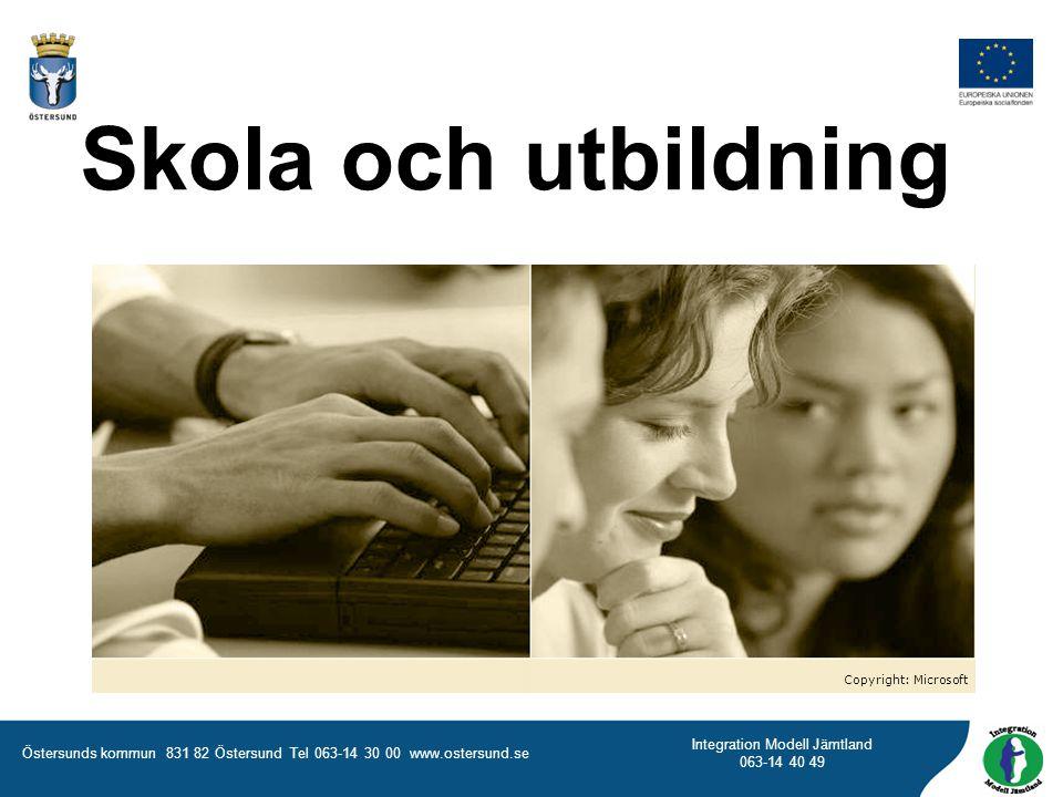 Skola och utbildning Copyright: Microsoft
