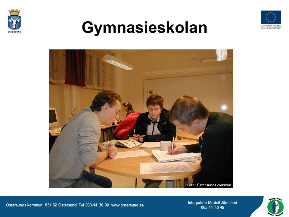 Gymnasieskolan Foto: Östersunds kommun