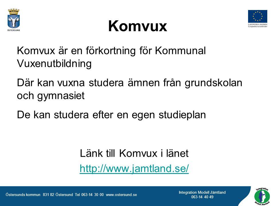 Länk till Komvux i länet